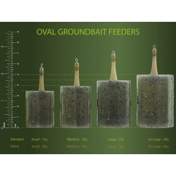 PASTURATORE DRENNAN OVAL GROUNDBAIT FEEDERS HEAVY SMALL 30G
