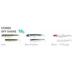 ESCA ARTIFICIALE IN GOMMA FIIISH BLACK MINNOW 90 COMBO OFF SHORE 10GR