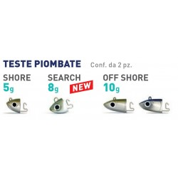TESTE PIOMBATE X FIIISH BLACK MINNOW 90 5GR SHORE - 8GR SEARCH - 10GR OFF SHORE