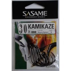 AMO AD OCCHIELLO SASAME F-888 KAMIKAZE BLACK SIZE 1 - 1/0 - 2/0 - 3/0 - 4/0 - 5/0 - 6/0 - 7/0 - 8/0 - 9/0