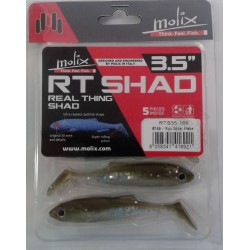"ESCA ARTIFICIALE SOFT BAIT MOLIX RT SHAD 3,5"" REAL THING SHAD 9CM COL. 97 GHOST GILL"