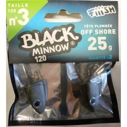 TESTE PIOMBATE X FIIISH BLACK MINNOW 120 6GR SHALLOW - 12GR SHORE - 18GR SEARCH - 25GR OFF SHORE - 37GR DEEP