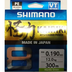 SHIMANO KAIRIKI 8 300M MANTIS GREEN 0.19MM