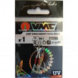 ASSIST HOOK VMC LIGHT SINGLE ASSIST 7117SA SIZE 1