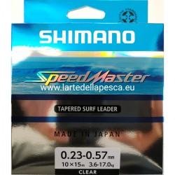 FILO CONICO SHIMANO SPEEDMASTER TAPERED SURF LEADER CLEAR 10X15M