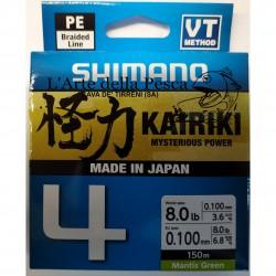 FILO TRECCIATO SHIMANO KAIRIKI 4 150M 0,10MM MANTIS GREEN