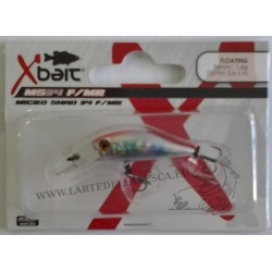 ESCA ARTIFICIALE X-BAIT MICRO SHAD 34MM 1,6GR FLOATING MEDIUM RUNNING COL. XB HOLO CANDY - XB BLACK SPOTS