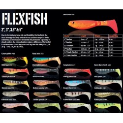 "ESCA ARTIFICIALE SOFTBAIT WAKE FLEXFISH 3,5"" COL. GOLDSCALES - BOTTOM SPECIAL"